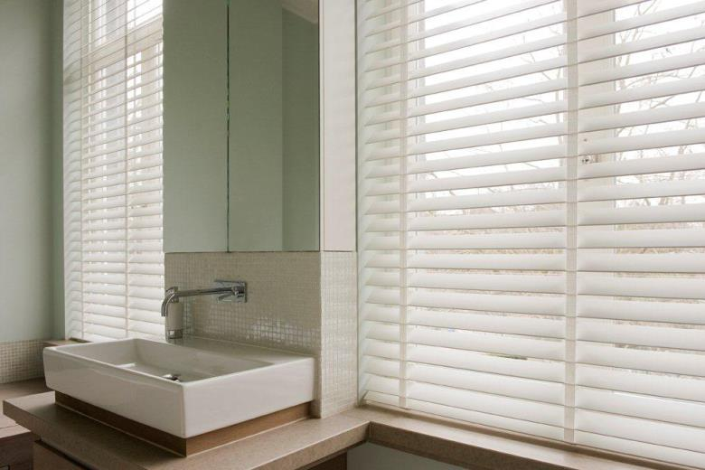 bathroom blinds white