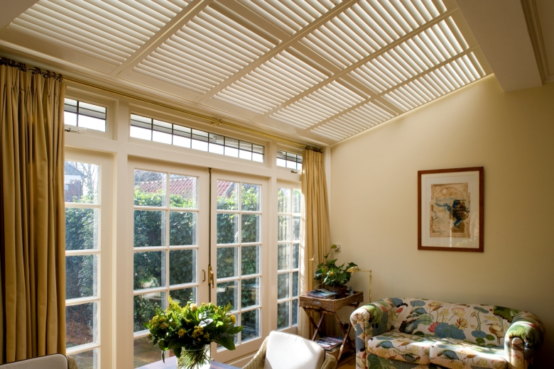 Shutters for the conservatory