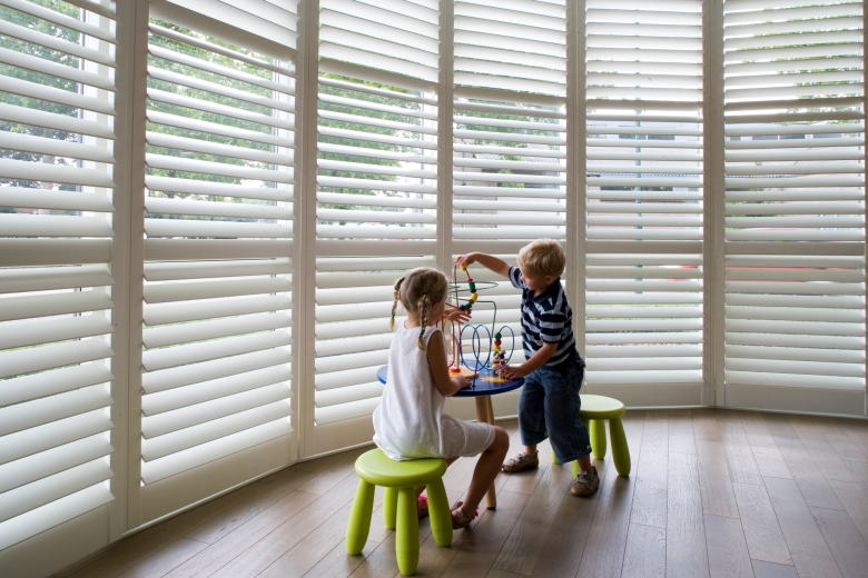 Shutters for the bay window