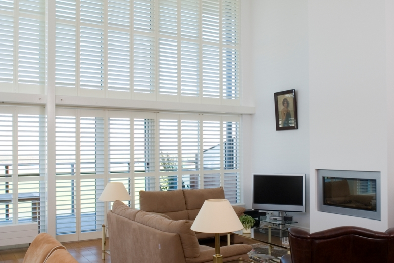 Shutters for high windows white