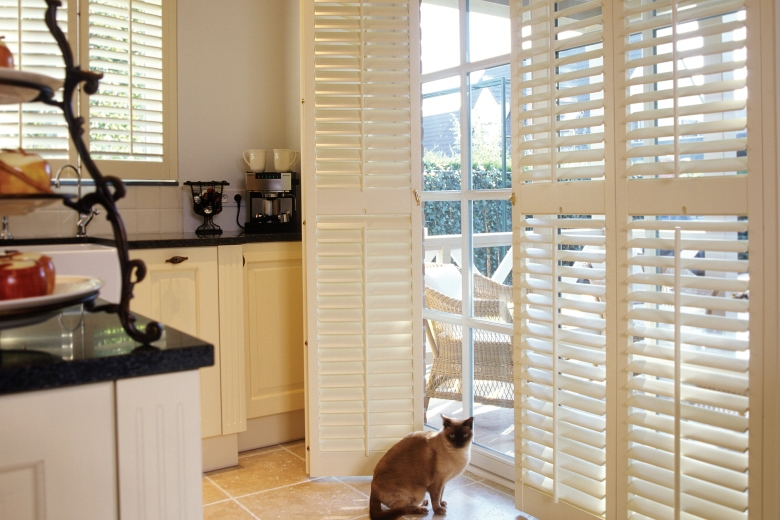 Shutters are easy to clean in the kitchen