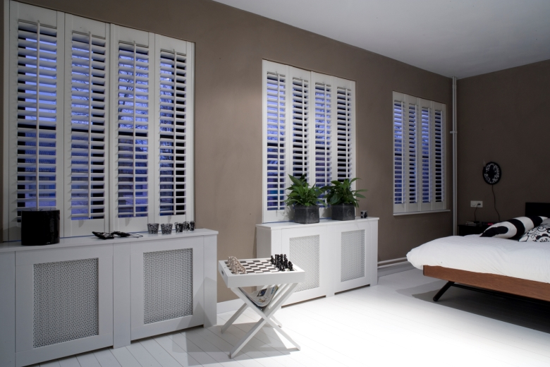 Shutters in the bedroom
