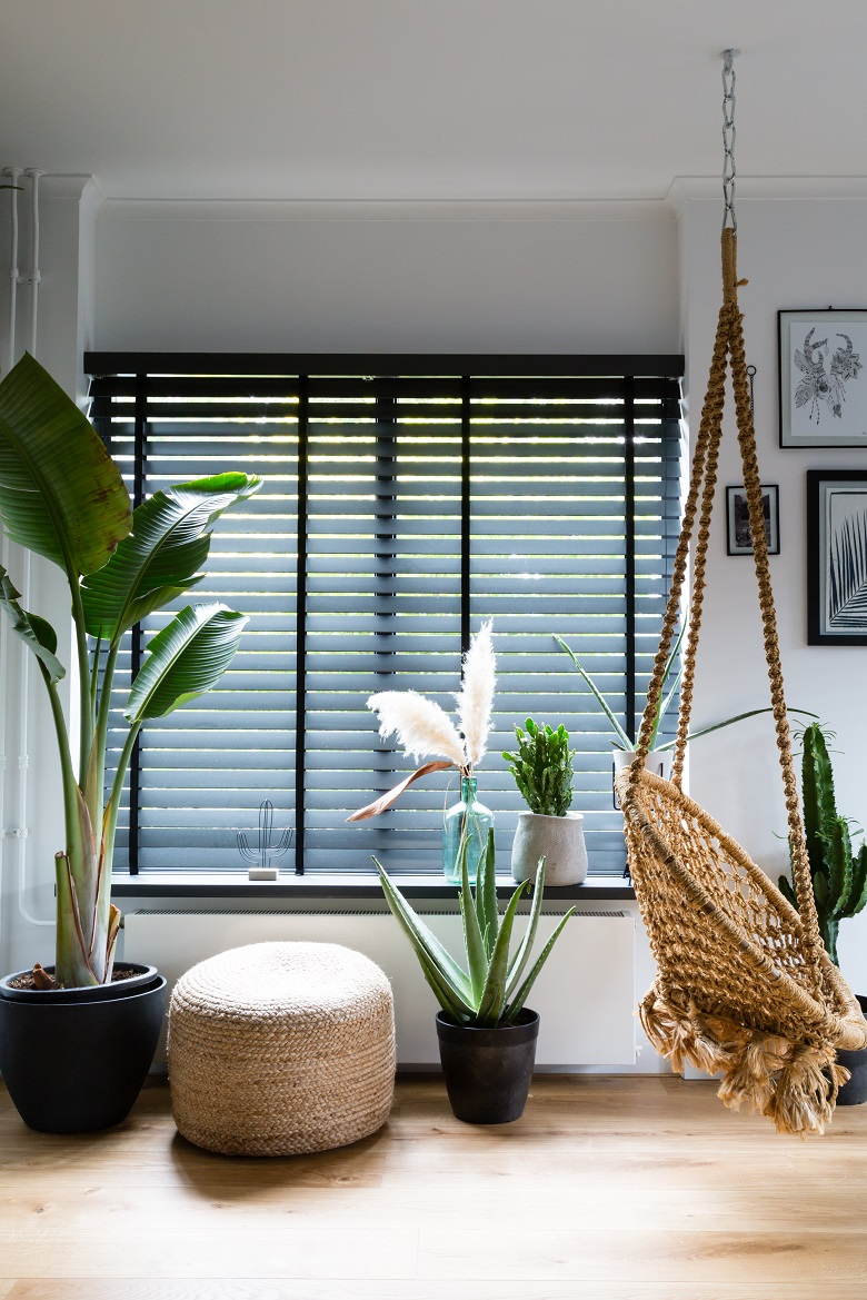 Living room with JASNO blinds