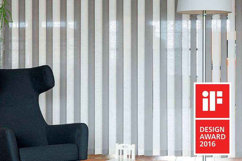 iF Award for JASNO Swings: vertical louver blinds