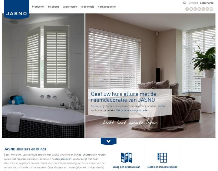 New website of JASNO shutters blinds swings and folds